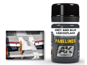 Paneliner Grey and blue camouflage