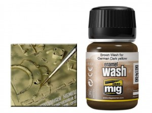 Wash modelarski Brown for German dark yellow