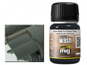 Wash modelarski Blue for panzer grey