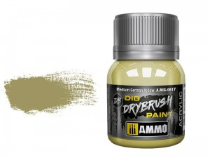 Farba akrylowa Medium german yellow Dio drybrush