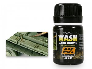 Wash modelarski Dark Brown