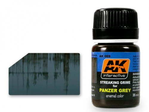 Wash Streaking grime for panzer grey AK069 AK Interactive