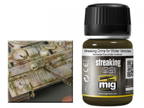 Weathering Streaking grime for winter vehicles A.MIG1205 AMMO Mig Jimenez