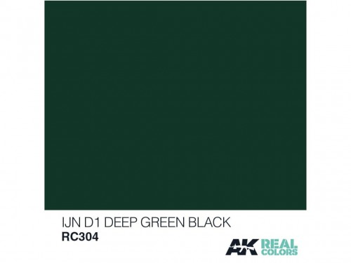 Lakier akrylowy IJN D1 deep green black RC304 AK Interactive