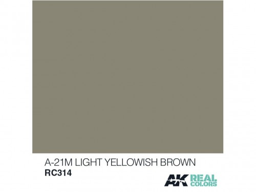 Lakier akrylowy A-21M light yellowish brown RC314 AK Interactive