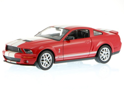 Ford Mustang Shelby Cobra GT500 2007 czerwony 22473 Welly