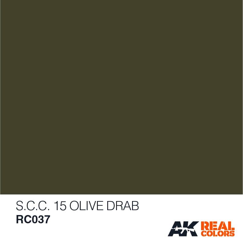 Lakier akrylowy S.C.C. 15 Olive drab RC037 AK Interactive