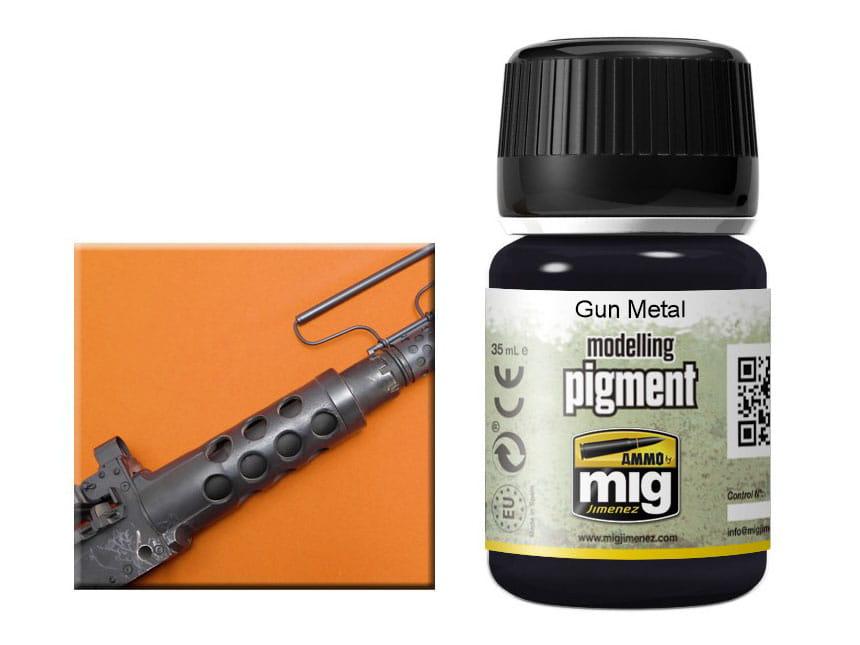 Pigment modelarski Gun metal