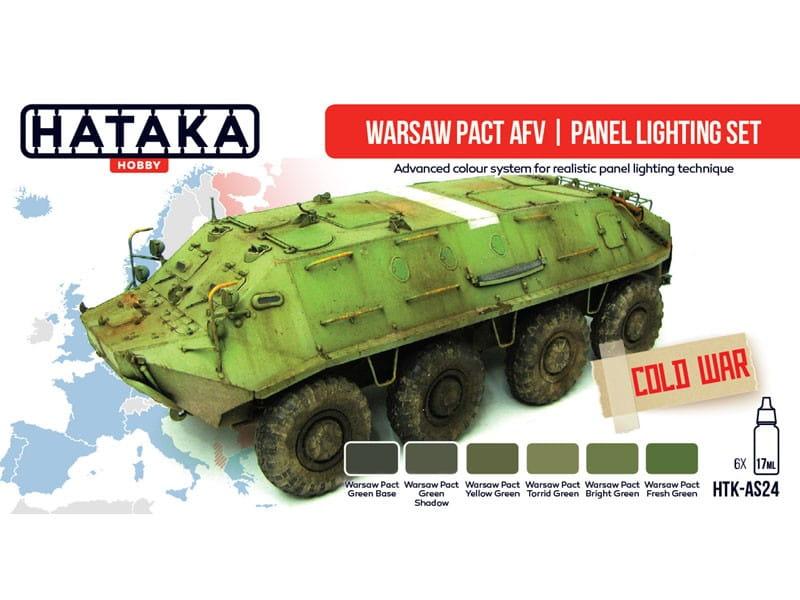 Zestaw farb akrylowych Uk艂ad Warszawski HTK-AS24 Hataka-Hobby